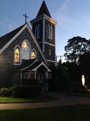 Good Shepherd Church at dusk